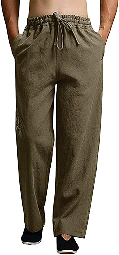 JEKAOYI Mens Summer Casual Pants Cotton