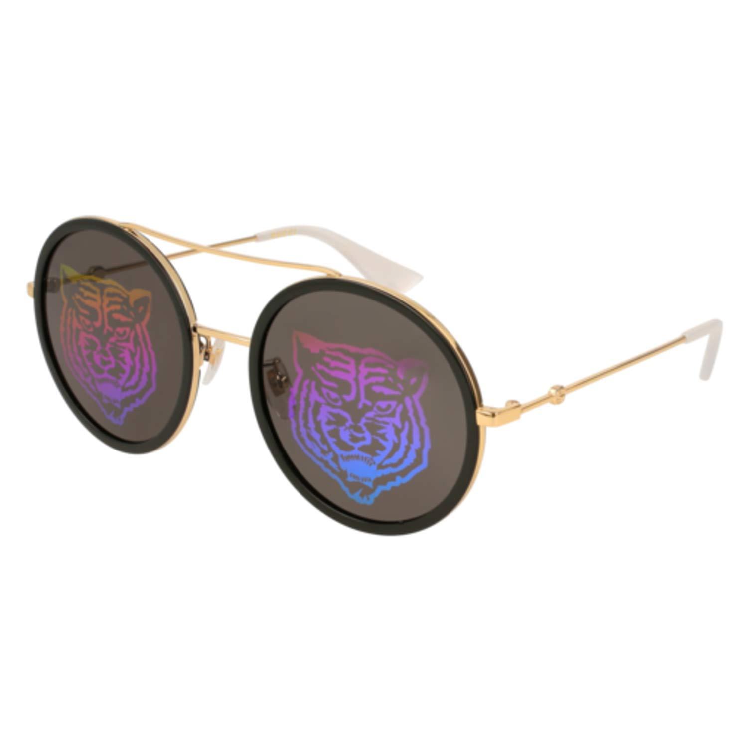 Sunglasses Gucci GG 0061 S- 014 GOLD/GREEN by Gucci