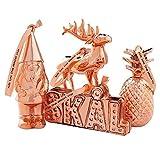 Elyx Boutique Christmas Festive Decorations Copper Plated Gift Set