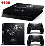 Ambur® PS4 Console Designer Skin for Sony PlayStation 4 System plus Two(2) Decals for: PS4 Dualshock Controller --- Game of Thrones