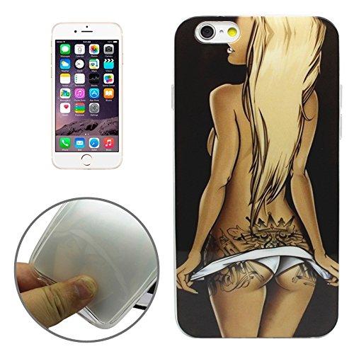 Phone Taschen & Schalen Sexy Mädchen Muster Transparente Rahmen TPU Fall für iPhone 6 Plus & 6S Plus ( SKU : S-IP6P-0201F )