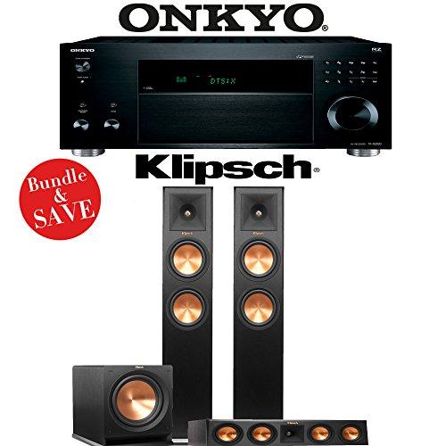 Onkyo TX-RZ820 7.2-Ch THX-Certified 4K Network AV Receiver + Klipsch RP-260F + Klipsch RP-440C + Klipsch R-112SW - 3.1-Ch Home Theater Package