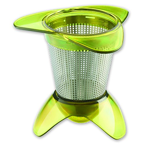 Infuser Tovolo (Tovolo In-Mug Tea Infuser, Maximizes Water Flow, Dishwasher Safe, Green)