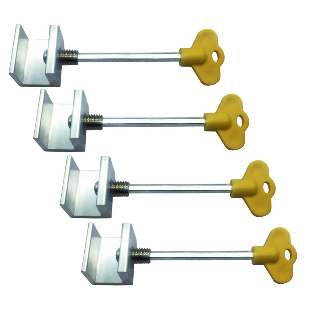 4 Pack Aluminum Alloy Sliding Window Locks for with Keys Providing Extra Security for Your Doors and Windows