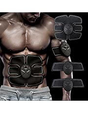 Abs Trainer Abs Belt, Abdominal Muscles Toner, Body Fit Toning Belts, Ab Toner Fitness Training Gear Machine Home/Office Ab Workout Equipment Machine for Men & Women