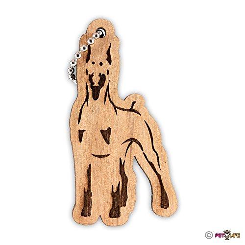 Doberman Keychain key chain keys charm pincscher v2 dobie Mister Petlife