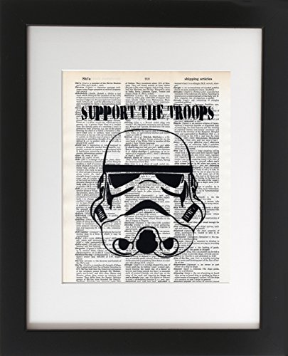 support-the-troops-upcycled-dictionary-art-print-8x10-unframed-frame-and-matting-are-for-presentatio