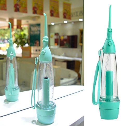 Denshine Portable Dental Care Water Jet Oral Irrigator Flosser Tooth SPA Teeth Pick Cleaner 1 PACK (Green)