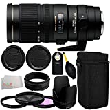 Sigma 70-200mm f/2.8 APO EX DG HSM OS FLD Large Aperture Telephoto Zoom Lens for Canon Digital DSLR Camera 11PC Accessory Kit. Includes Manufacturer Accessories + 3PC Filter Kit (UV-CPL-FLD) + Wireless Remote + Dust Blower + Microfiber Cleaning Cloth
