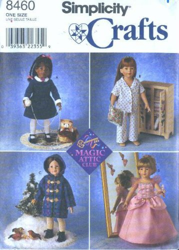 ll Clothes for 18-inch Magic Attic Club Dolls - Patterns for 4 Outfits ()