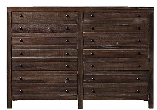 - Modus Furniture 8T0682 Townsend Eight-Drawer Solid Wood Dresser, Java