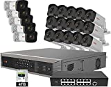 Revo America Ultra Plus Commerical Grade 32Ch 4TB HDD 4K NVR Video Surveillance System, 20 x 1080p Indoor/Outdoor IR Bullet Cameras - Remote Access via Smart Phone, Tablet, PC & MAC