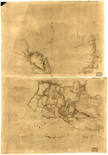 Civil War Map Reprint  Sketch Of Country Between Haxalls Landing And Charles City Court House   Reconnoissances Sic Under The Direction Of Brig  Genl  A A  Humphreys  Comdg  Topl  Engrs