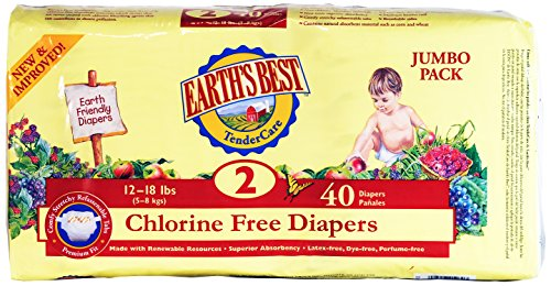 Chlorine Free Earth Friendly Disposable Diapers Size: Size 2