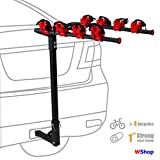 WShop 4 Bicycle Bike Rack Carrier 1-1.4'' & 2'' Bicycle Hitch Mount Carrier Car Truck