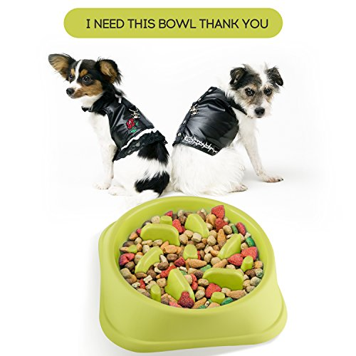 Slow Feeder Dog Bowl - Fun Feeder Slow Feed Interactive Bloat Stop Dog Bowl for Pets Health Bloat Stop Anti-Choking