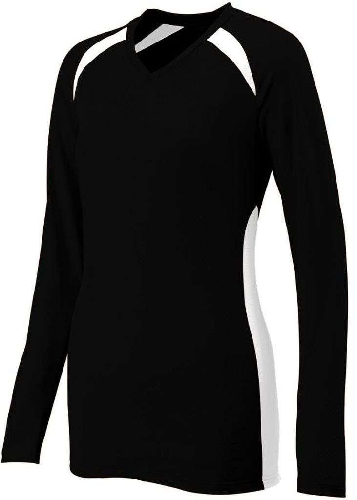 Augusta SportswearレディースSpike Jersey B00HJTN8BS Medium|ブラック/ホワイト ブラック/ホワイト Medium