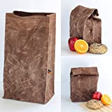 Lunch Bag - Brown Waxed Canvas