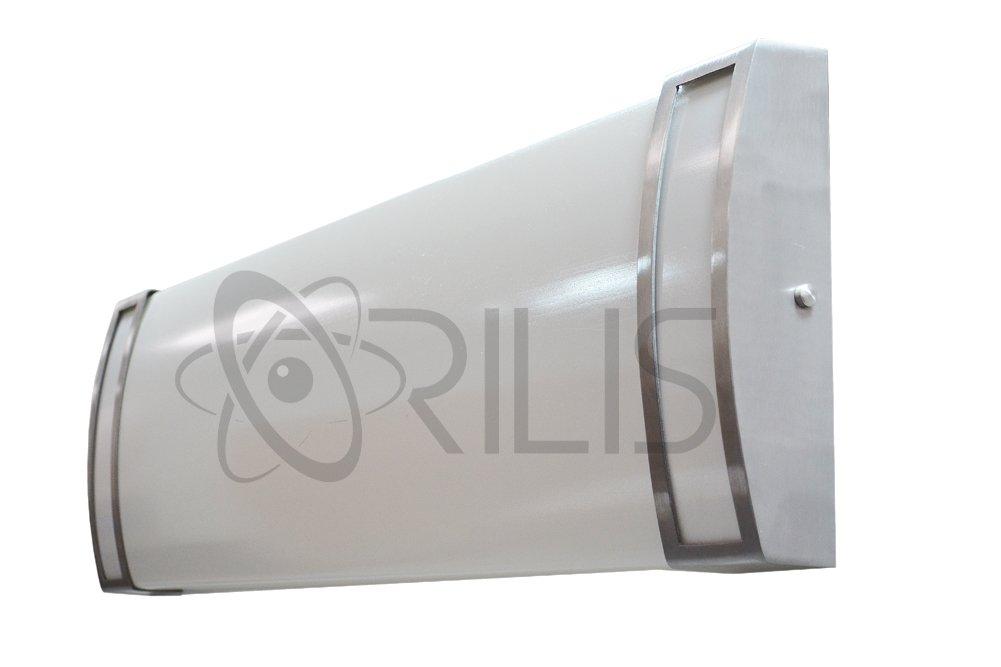 Orilis 48W LED 2-ft. 4-Light Luxury Brushed Nickel Hardwired Ceiling Fixture - (4) 12W LED T8 Tubes Included - 6000 Lumens - 6500K by Orilis (Image #1)