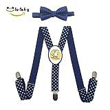 Xiacai Summer Cowabunga Suspender&Bow Tie Set Adjustable Clip-On Y-Suspender Children