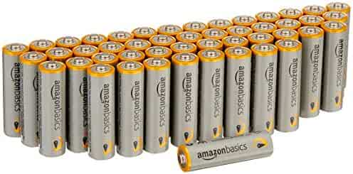 AmazonBasics AA Performance Alkaline Batteries (48 Count) - Packaging May Vary