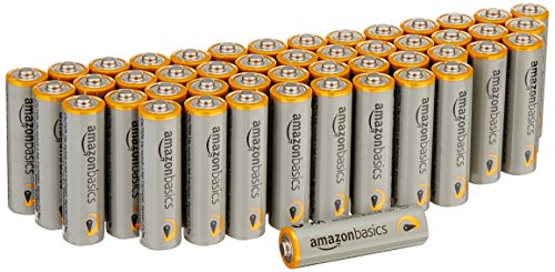 AmazonBasics AA Performance Alkaline Batteries [Pack of 48] - Packaging May...