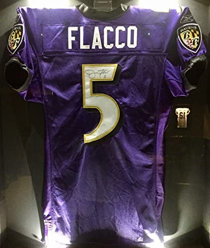 Joe Flacco Team Issued Signed Ravens Pro NFL Game Jersey NFL ...