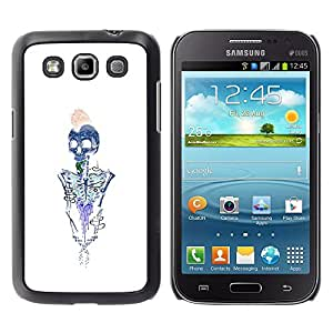 iBinBang / Funda Carcasa Cover Skin Case - Skeleton Brains White Blue Metal - Samsung Galaxy Win I8550 I8552 Grand Quattro