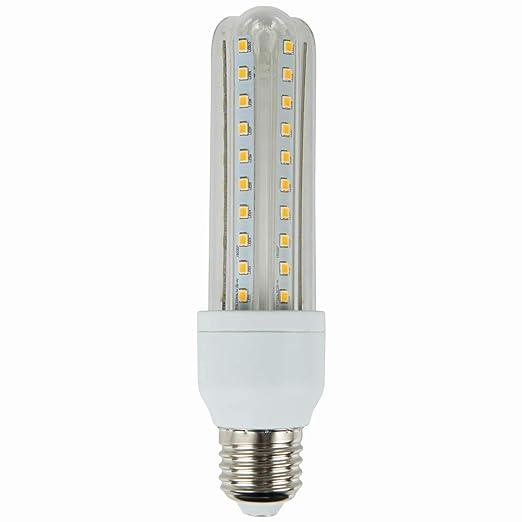 Aigostar Bombilla LED T3 3U de 12W, rosca grande y luz cálida E27 ...