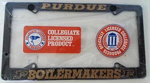 (New - Purdue Boilermakers Metal License Plate Frame - Auto Car Truck Chrome Boiler Up)