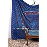 Tapestry Queen Beautiful Hippie Mandala Bohemian Peacock Bedding Indian Bedspread Tapestries 92x82 Inches Aakriti
