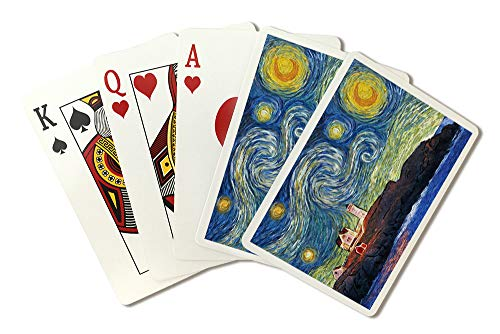 (East Coast Lighthouse - Starry Night (Playing Card Deck - 52 Card Poker Size with Jokers))