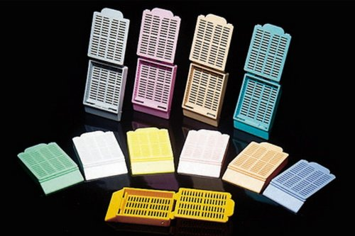 Tissue Embedding Cassettes w/lid. (pink) [ 1 Box(es)]