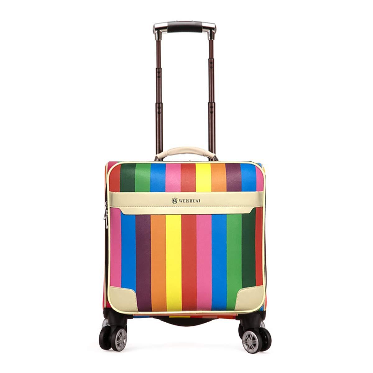 ファッション旅行トロリーケース荷物を運ぶスーツケース動く飛行機用シートバッグ週末休暇のビジネスカレッジ女性/学生,A,18inch 18inch A B07R9WT4RH