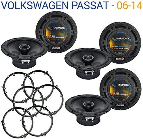 3 Compatible with Volkswagen Passat 2006-2014 Factory Speaker Upgrade Harmony R65 Package New