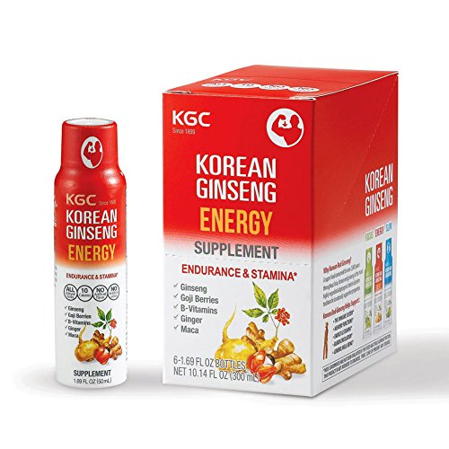 Ginseng Energy Drinks (KGC Ginseng Natural Shot Energy Drink, 6 Count)