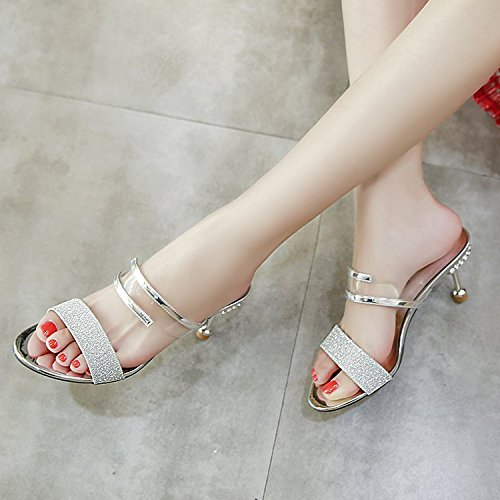 Summer Heeled Golden Temperament Female Fashion Flat Bottom women Thin And Is Slippers Thin WHLShoes Type Casual slippers High AR0Xf