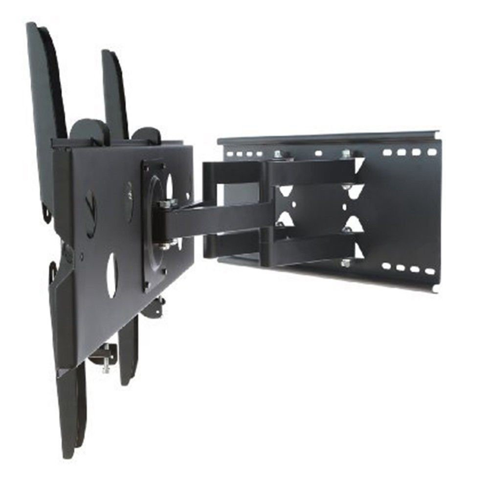 2xhome – NEW TV Wall Mount Bracket (Dual Arm) – Secure Low Profile Cantilever LED LCD Plasma Smart 3D WiFi Flat Panel Screen Monitor Moniter Display Large Displays - Long Swing Out Dual Double Arm