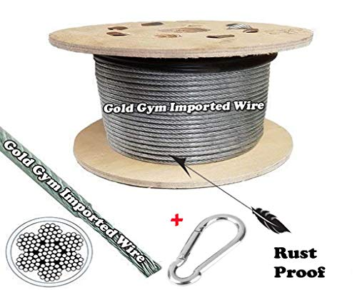 Amazing Gym Sports Machine Rubber Coated Wire Black Heavy Duty Stainless-Steel Rest Proof (Silver/Transparent, 40 Miter) (B07Y4ZKVZX) Amazon Price History, Amazon Price Tracker