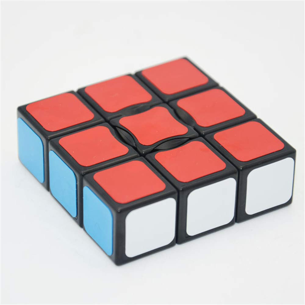 Best Ning Speed Cube Twisted Third-order Cubes Third-order Shaped Color-colored Fluorescent Color Free Stickers Children's Educational Toys,Black