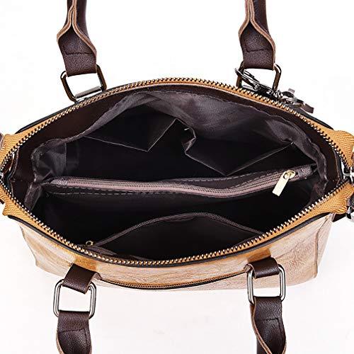 de de à en carré mode vertical avec Sac sac 25 Noir 12 des main à dames 23CM els à bandoulière bandoulière cuir glands sac 0nq6nzEWZ