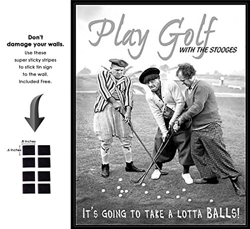 - Shop72 - Hollywood Movie Tin Sign Play Golf Three Stooges Tinsign -