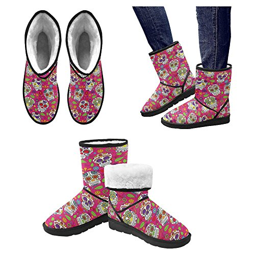 Boots InterestPrint 27 Boots Comfort Multi Designed Winter Unique Snow Womens qrBgrE