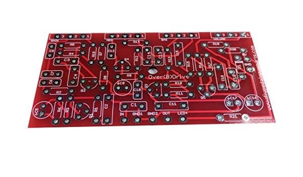 diypedalgearparts PCB over (B) Drive Pedal Efecto British Vintage ...