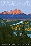 Grand Teton National Park, Wyoming - Snake River Overlook (24x36 Giclee Gallery Print, Wall Decor Travel Poster)