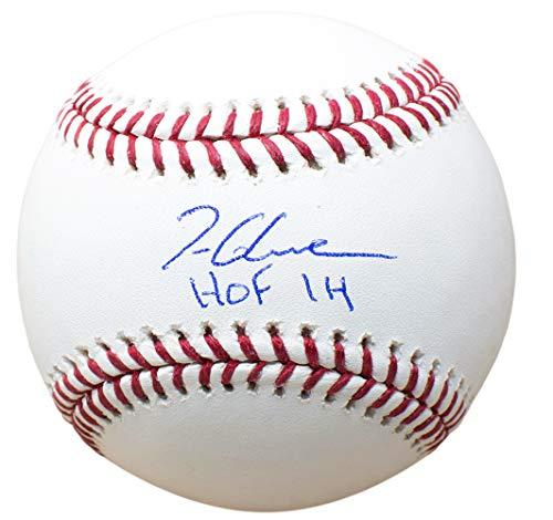 (Tom Glavine Braves Signed MLB Baseball HOF 14 w/Free Ball Cube JSA)
