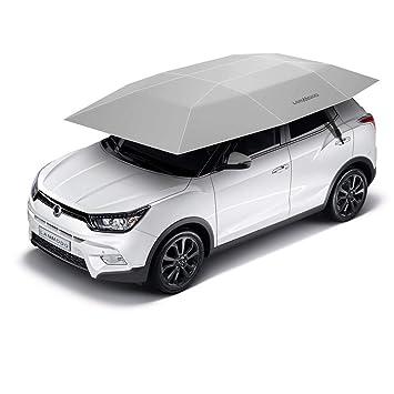 Amazon.es: United Entertainment - Automático Auto de Paraguas Protector Solar 3.5 x 2.1 m - Plata