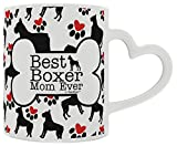 Boxer Gift Best Boxer Mom Ever Dog Owner Gifts Dog Lover Heart Handle Gift Coffee Mug Tea Cup Heart Handle
