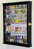 large black display case - Large Mirror Backed and 7 Glass Shelves Shot Glasses Display Case Holder Cabinet , Black