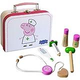 Barbo Toys Peppa Pig barnläkare med 6 träleksaker, rollspel från 2 år för flickor och pojkar, officiellt licensierat av…